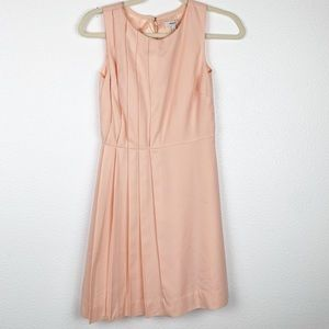 J. Crew Pink Pleated Sleeveless Cocktail Dress 0P